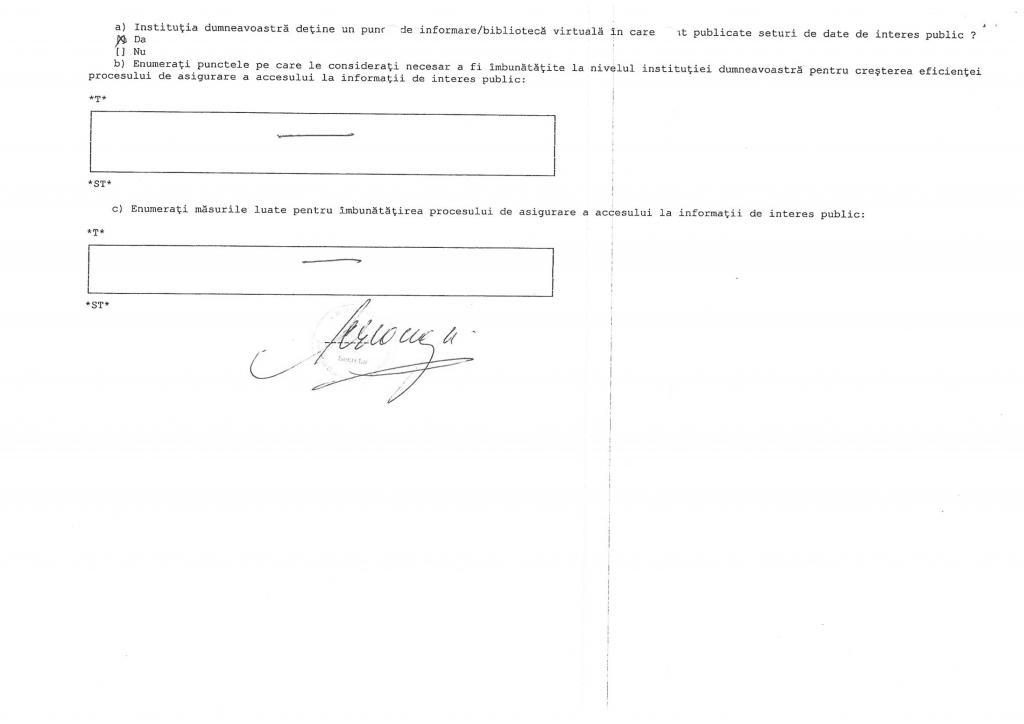 Raport de evaluare leaga nr. 544/2001